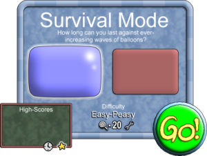 WIP of Pop Rock 'n' Roll Survival Mode interface